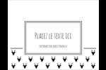 Motif de renne noir et blanc  Cartes Et Articles D'Artisanat Imprimables - gabarit prédéfini. <br/>Utilisez notre logiciel Avery Design & Print Online pour personnaliser facilement la conception.