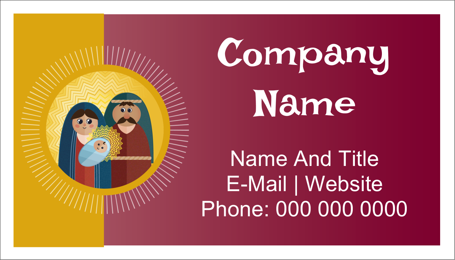 "2"" x 3½"" Business Card - Baby Jesus"