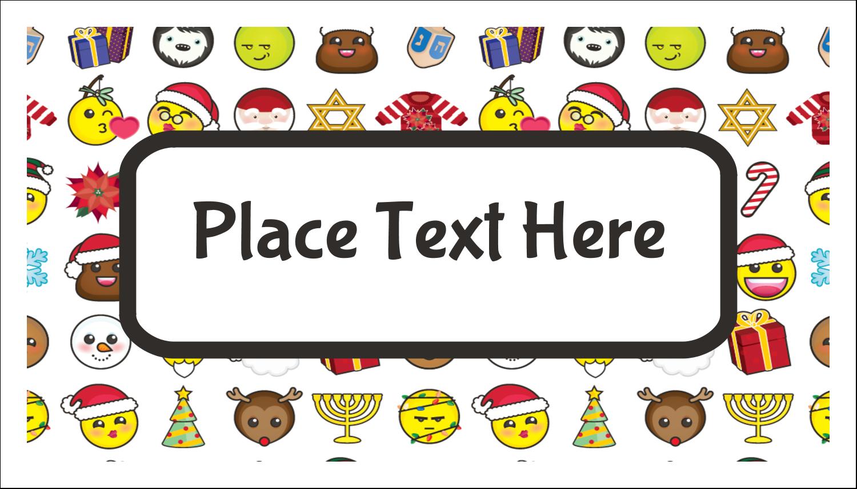 "2"" x 3½"" Business Card - Emoji Holiday"