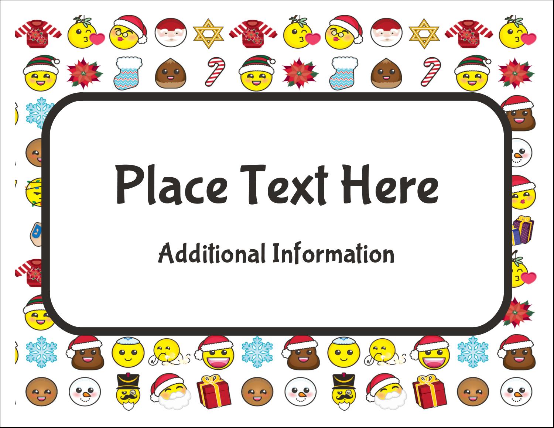 "5½"" x 4¼"" Note Card - Emoji Holiday"