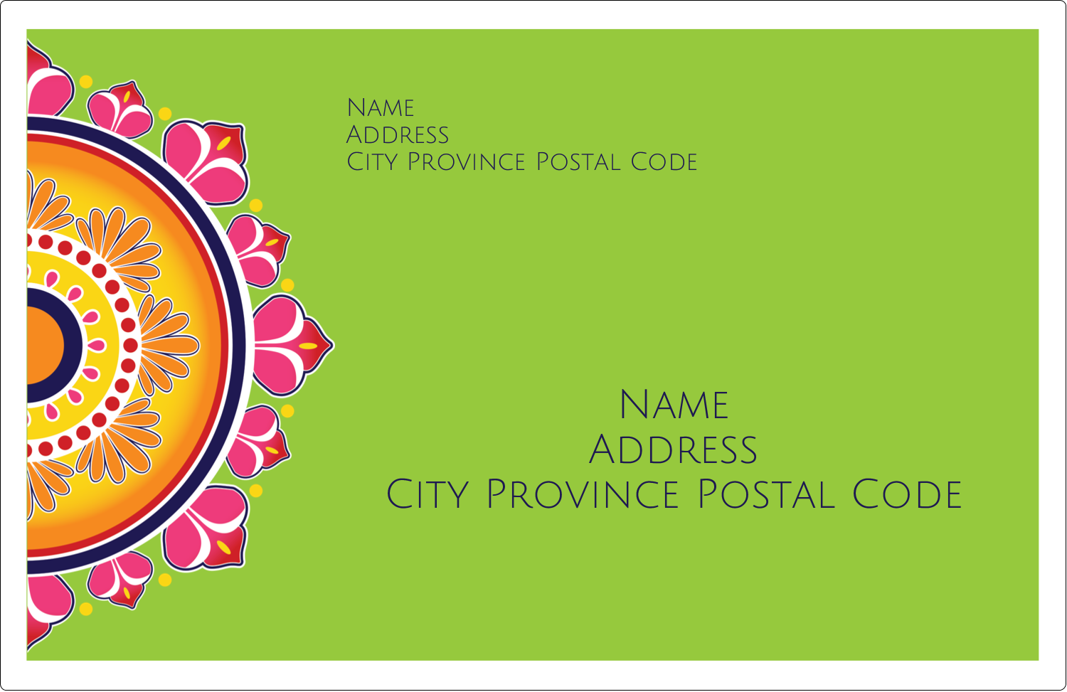"5½"" x 8½"" Shipping Label - Diwali Rangoli"