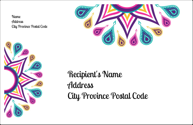 """5½"""" x 8½"""" Shipping Label - Diwali Ribbon"""