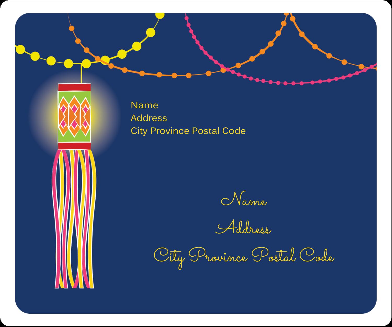 "3⅓"" x 4"" Shipping Label - Diwali Lanterns"