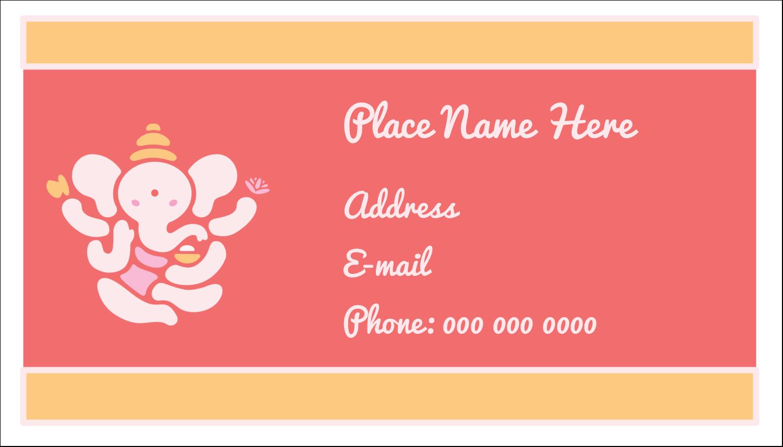 """2"""" x 3½"""" Business Card - Diwali Ganesha"""