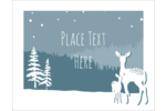 Bring the beauty of Mother Nature to projects with pre-designed Deer in Forest templates.