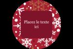 Flocons de neige rouges Étiquettes Voyantes - gabarit prédéfini. <br/>Utilisez notre logiciel Avery Design & Print Online pour personnaliser facilement la conception.