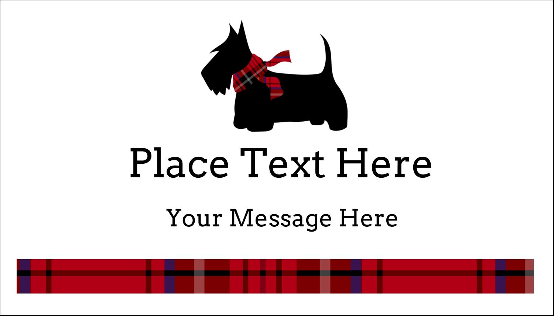 """2"""" x 3½"""" Business Card - Scottie Dog"""