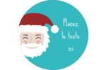 Père Noël Étiquettes Voyantes - gabarit prédéfini. <br/>Utilisez notre logiciel Avery Design & Print Online pour personnaliser facilement la conception.