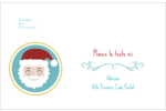Père Noël Étiquettes d'adresse - gabarit prédéfini. <br/>Utilisez notre logiciel Avery Design & Print Online pour personnaliser facilement la conception.
