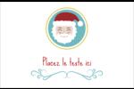 Père Noël Cartes de souhaits pliées en deux - gabarit prédéfini. <br/>Utilisez notre logiciel Avery Design & Print Online pour personnaliser facilement la conception.