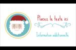 Père Noël Carte d'affaire - gabarit prédéfini. <br/>Utilisez notre logiciel Avery Design & Print Online pour personnaliser facilement la conception.