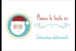 Père Noël Étiquettes à codage couleur - gabarit prédéfini. <br/>Utilisez notre logiciel Avery Design & Print Online pour personnaliser facilement la conception.