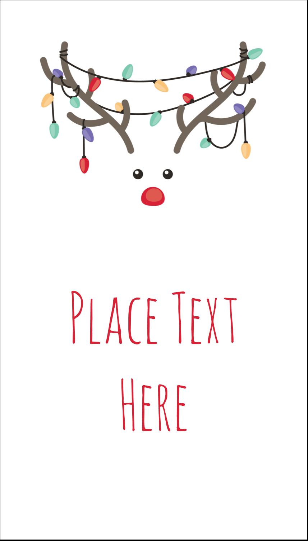 "3½"" x 2"" Business Card - Reindeer Antler Lights"