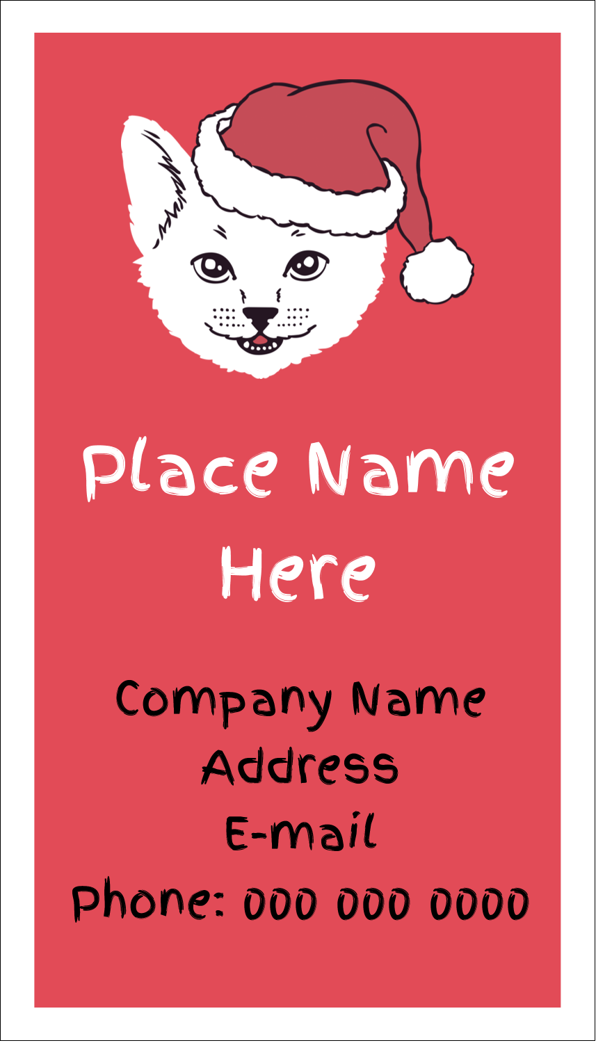 "3½"" x 2"" Business Card - Catmas Meowy"