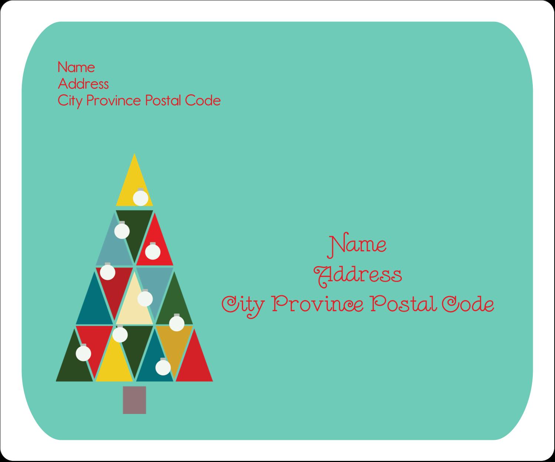 "3⅓"" x 4"" Shipping Label - Kaleidoscope Christmas Tree"