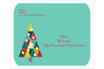 Kaleidoscope Christmas Tree Shipping Label Pre-Designed Template. <br/>Customize this printable design template with our Avery Design & Print Online Software.