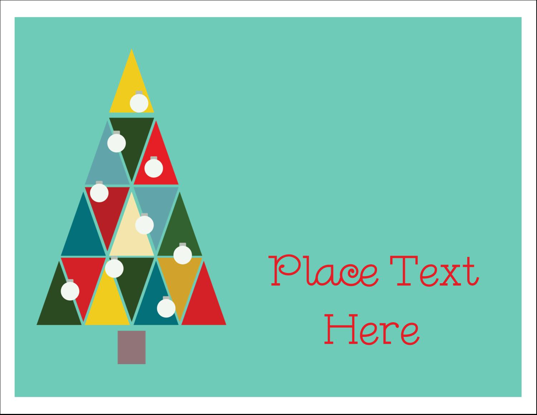 "4¼"" x 5½"" Note Card - Kaleidoscope Christmas Tree"