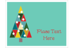 Kaleidoscope Christmas Tree Note Card Pre-Designed Template. <br/>Customize this printable design template with our Avery Design & Print Online Software.