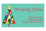 Kaleidoscope Christmas Tree Business Card Pre-Designed Template. <br/>Customize this printable design template with our Avery Design & Print Online Software.