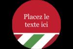 Rayures rouges et vertes Étiquettes Voyantes - gabarit prédéfini. <br/>Utilisez notre logiciel Avery Design & Print Online pour personnaliser facilement la conception.