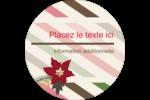 Poinsettia et rayures Étiquettes Voyantes - gabarit prédéfini. <br/>Utilisez notre logiciel Avery Design & Print Online pour personnaliser facilement la conception.