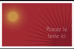Soleils du Nouvel An Cartes de souhaits pliées en deux - gabarit prédéfini. <br/>Utilisez notre logiciel Avery Design & Print Online pour personnaliser facilement la conception.