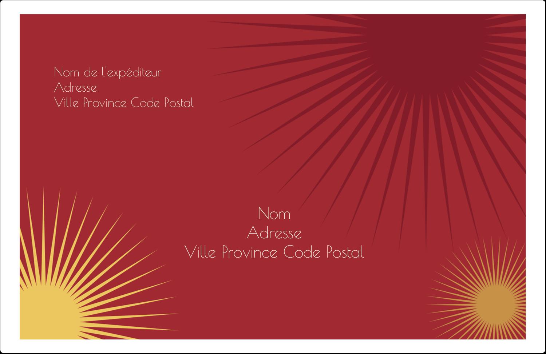 """1½"""" x 4"""" Étiquettes d'adresse - Soleils du Nouvel An"""