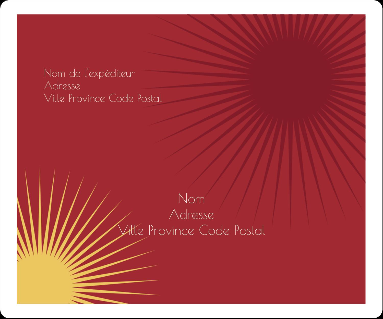 """½"""" x 1¾"""" Étiquettes D'Adresse - Soleils du Nouvel An"""