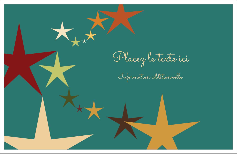 """5½"""" x 8½"""" Cartes de souhaits pliées en deux - Étoiles du Nouvel An"""