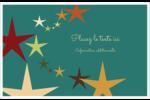 Étoiles du Nouvel An Cartes de souhaits pliées en deux - gabarit prédéfini. <br/>Utilisez notre logiciel Avery Design & Print Online pour personnaliser facilement la conception.