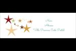Étoiles du Nouvel An Intercalaires / Onglets - gabarit prédéfini. <br/>Utilisez notre logiciel Avery Design & Print Online pour personnaliser facilement la conception.