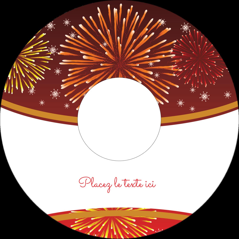"""⅔"""" x 3-7/16"""" Étiquettes de classement - Feux d'artifice rouges du Nouvel An"""