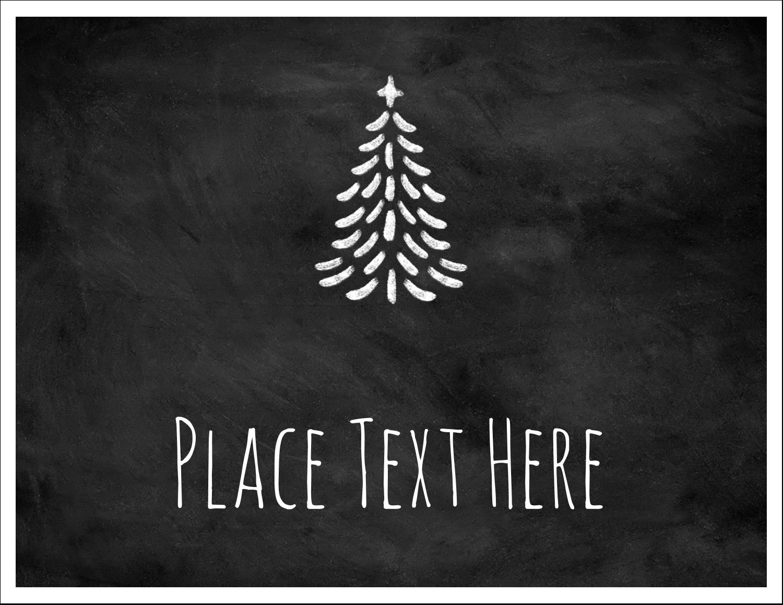 """5½"""" x 4¼"""" Note Card - Chalkboard Tree"""