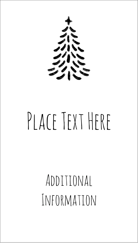 "3½"" x 2"" Business Card - Chalkboard Tree"