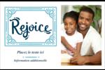« Rejoice » écrit à la main Cartes de souhaits pliées en deux - gabarit prédéfini. <br/>Utilisez notre logiciel Avery Design & Print Online pour personnaliser facilement la conception.