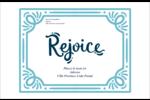 « Rejoice » écrit à la main Étiquettes d'expédition - gabarit prédéfini. <br/>Utilisez notre logiciel Avery Design & Print Online pour personnaliser facilement la conception.