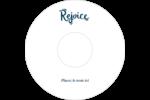« Rejoice » écrit à la main Étiquettes Pour Médias - gabarit prédéfini. <br/>Utilisez notre logiciel Avery Design & Print Online pour personnaliser facilement la conception.