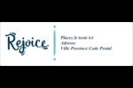 « Rejoice » écrit à la main Intercalaires / Onglets - gabarit prédéfini. <br/>Utilisez notre logiciel Avery Design & Print Online pour personnaliser facilement la conception.