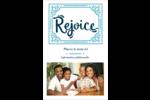 « Rejoice » écrit à la main Cartes Et Articles D'Artisanat Imprimables - gabarit prédéfini. <br/>Utilisez notre logiciel Avery Design & Print Online pour personnaliser facilement la conception.