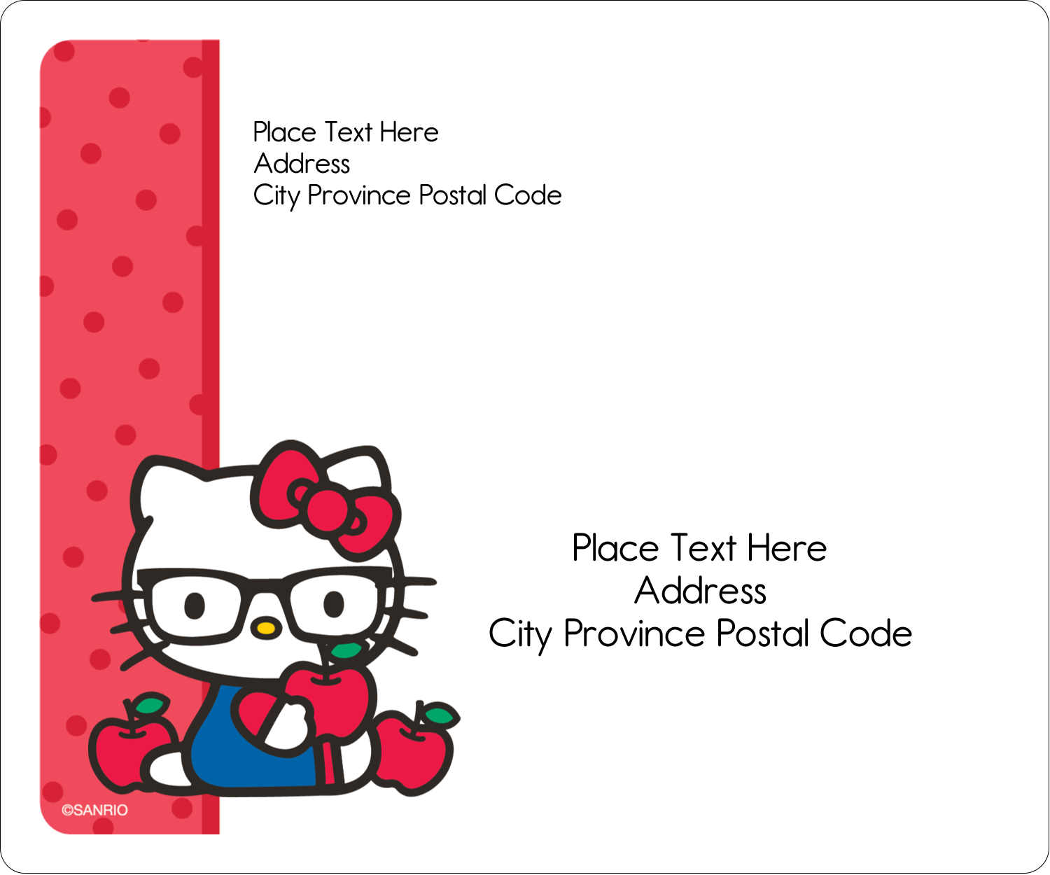 "3⅓"" x 4"" Shipping Label - Your Friend Hello Kitty"
