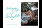 « Merry and Bright » écrit à la main Cartes Et Articles D'Artisanat Imprimables - gabarit prédéfini. <br/>Utilisez notre logiciel Avery Design & Print Online pour personnaliser facilement la conception.