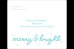 « Merry and Bright » écrit à la main Étiquettes D'Adresse - gabarit prédéfini. <br/>Utilisez notre logiciel Avery Design & Print Online pour personnaliser facilement la conception.