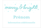 « Merry and Bright » écrit à la main Badges - gabarit prédéfini. <br/>Utilisez notre logiciel Avery Design & Print Online pour personnaliser facilement la conception.