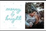 « Merry and Bright » écrit à la main Cartes de souhaits pliées en deux - gabarit prédéfini. <br/>Utilisez notre logiciel Avery Design & Print Online pour personnaliser facilement la conception.