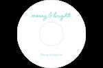 « Merry and Bright » écrit à la main Étiquettes Pour Médias - gabarit prédéfini. <br/>Utilisez notre logiciel Avery Design & Print Online pour personnaliser facilement la conception.
