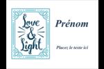 « Love and Light » écrit à la main Badges - gabarit prédéfini. <br/>Utilisez notre logiciel Avery Design & Print Online pour personnaliser facilement la conception.