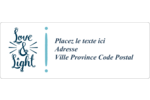 « Love and Light » écrit à la main Étiquettes d'adresse - gabarit prédéfini. <br/>Utilisez notre logiciel Avery Design & Print Online pour personnaliser facilement la conception.