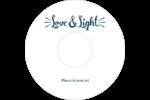 « Love and Light » écrit à la main Étiquettes Pour Médias - gabarit prédéfini. <br/>Utilisez notre logiciel Avery Design & Print Online pour personnaliser facilement la conception.