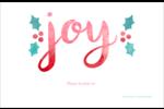 « Joy » écrit à la main Cartes de souhaits pliées en deux - gabarit prédéfini. <br/>Utilisez notre logiciel Avery Design & Print Online pour personnaliser facilement la conception.