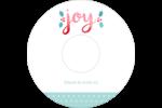 « Joy » écrit à la main Étiquettes Pour Médias - gabarit prédéfini. <br/>Utilisez notre logiciel Avery Design & Print Online pour personnaliser facilement la conception.